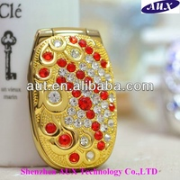 Beautiful design Quad band N888 flip lady mobile phone with camera