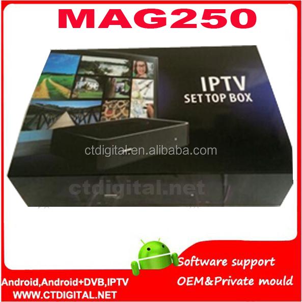 Mag 254 iptv box mag254 wifi exeup iptv receiver box oem iptv set top