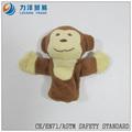 Suave felpa marionetas del dedo ( mono ), personalizado juguetes, CE / ASTM seguridad stardard