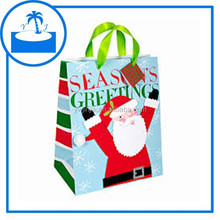 custom OEM christmas gift bags super market paper shopping carrier bags