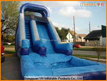 laminated PVC inflatable summer water slide with pool