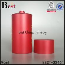 2015 nuevo diseño círculo redondo color empaquetado del perfume decoración de botellas de vidrio