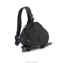 Stylish DSLR Camera Bag Case Shoulder Triangle Bag with Rain Cover for Canon Nikon Sony Pentax DSLR