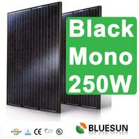 China Bluesun Mono 250W all black solar panel with ce