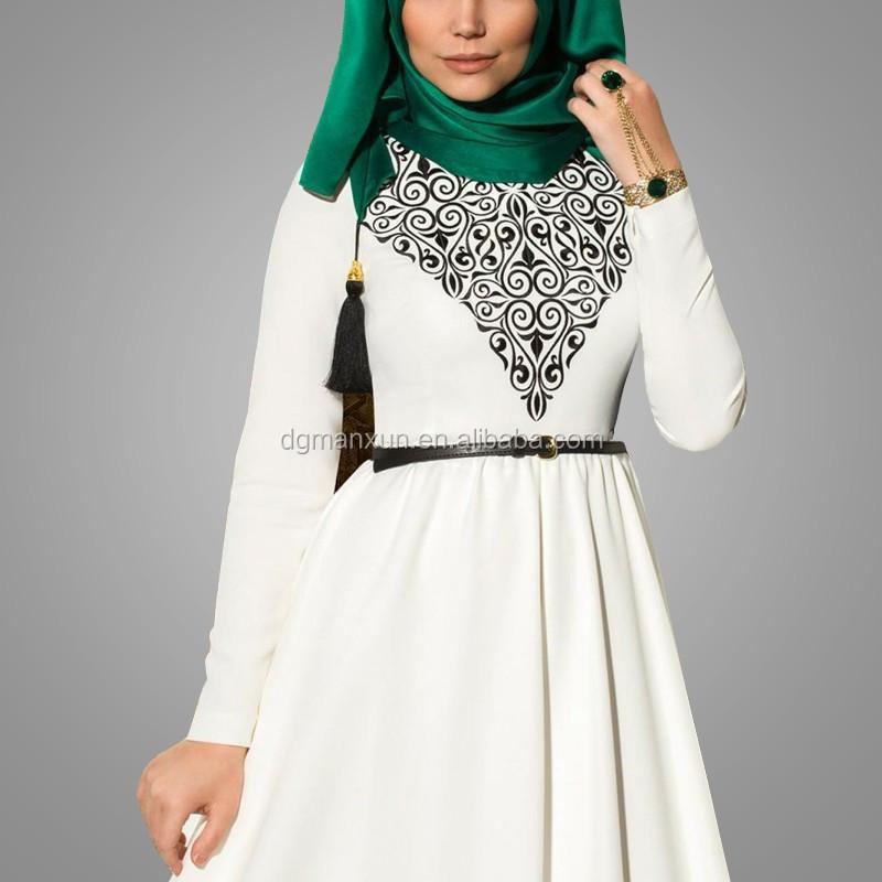 2016 Abayas Islamic Muslim Dresses For Women Long Dresses Malaysia Turkish Indonesia  Clothing  Muslims (3).jpg