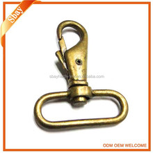 Antique brass safety spring swivel snap hook for bag