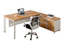 KD structure office table L type desk adjustable height