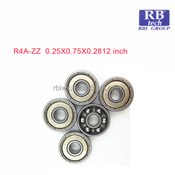 Stainless steel or chrome steel Deep groove ball bearings R4A-ZZ made in china for fishing reels