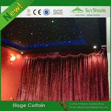 Black/Red/Colorful Velvet Backdrop Stage Decoration Curtain For Sale