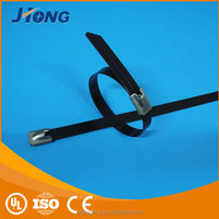 Made In China Wholesale Size 12*650 Stainless steel epoxy coated cable tie