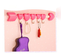 J377 Hot selling Magic Double-sided Plastic Sucker Suction Hook