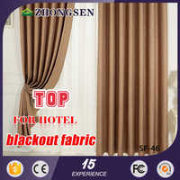 5 stars luxury hotel blackout curtain with hooks