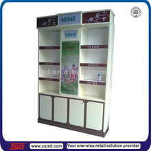 TSD-W619 baking finished lighting makeup case with stand/ cosmetics shops/ makeup storage cabinet