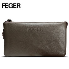 Clutch Bag From China Genuine Leather Oversize Men Wallets For Cell Phone