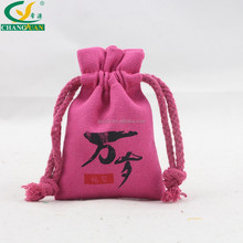 wholesale custom jewelry canvas cotton cloth bag