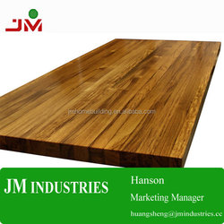 Solid wood top is easy to maintain/eco-friendly material butcher block counter top