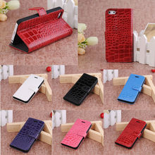 Crocodile leather case for i phone5s, for iphone 5 shells
