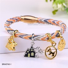 Fashion Custom Bracelet Handmade Lucky Leather Charm Bracelet