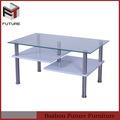 venta caliente muebles de la sala de MDF y vidrio mesa de café