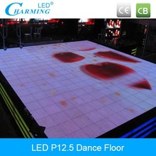 Toughen glass light-weight led brick for stage/bar/wedding