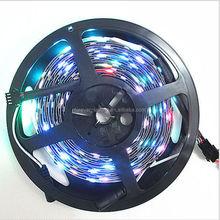 ws2801 rgb led digital ribbon strip lighting, magic digital addressable dream color rgb led strip