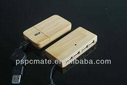 wood mouse and hub combo logo can be carved wooden mouse