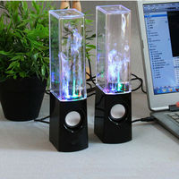 New Fashion Wired Water dancing Speaker Music Colorful Fountain Speaker with led light