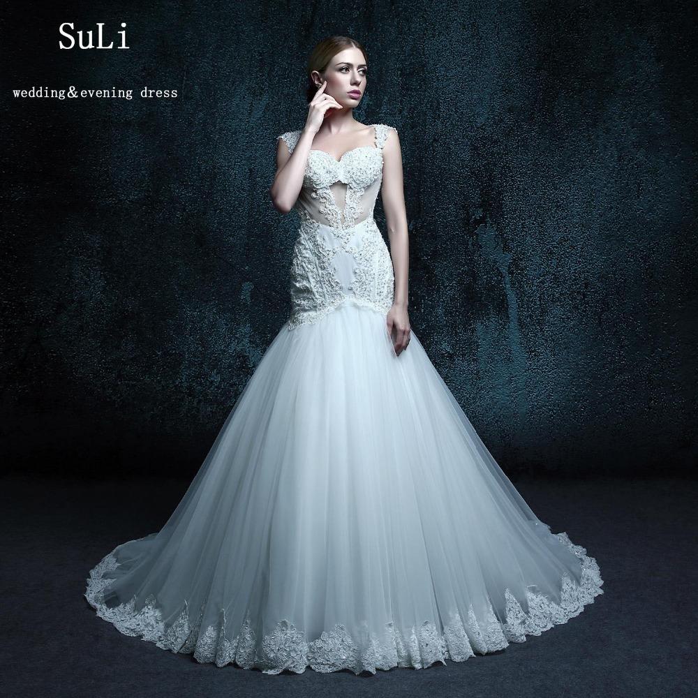 Trumpet Wedding Dress Tulle : Wholesale zxb vintage trumpet wedding dress tulle