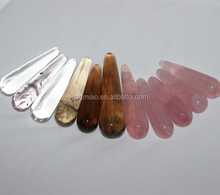 Wholesale price of natural rose quartz crystal dildo without chemical glue very safe for woman