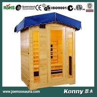 2015 KL-3LOB new outdoor far infrared sauna room