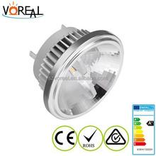 Hot sale! 12w led ar111 4000k 12v g53 with reflector cup CE &ROHS ar111 gu10 led