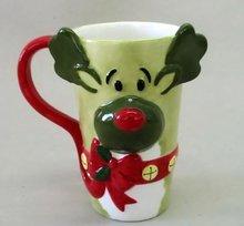 Christmas mug, ceramic christamas mug by handpainted