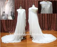 Exclusively One Shoulder Lace Beading Chiffon Bridal Wedding Dresses