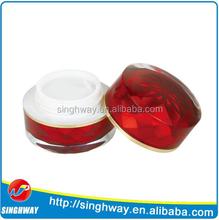5g Red Luxury Cosmetics Jar, Plastic Luxury Cosmetics Jar