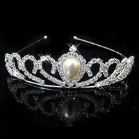 Fashion crystal rhinestone pearl tiaras and crowns hairbands