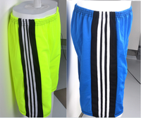classic men sports short with elastic rubber bands running shorts mens polyester sports shorts