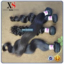 Cheap virgin indian hair styles for men indian remy hair weave 100g for one pack