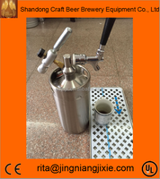 High quality stainless steel 304 2L mini keg growler with spears