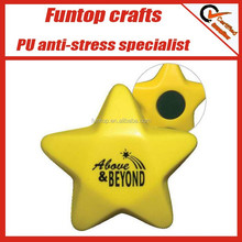 Polyurethane soft foam fridge magnet star anti stress ball