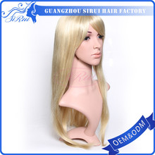 Most popular belle madame german synthetic hair wig,32 inch blonde color noble synthetic hair wig
