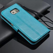 Colorful leather case for Samsung S6 ,S6 case