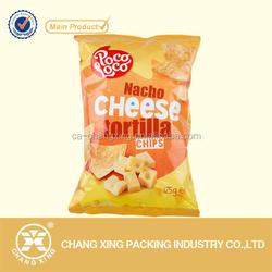 printing plastic laminated flat bags for food/snack/crisp/potato chips