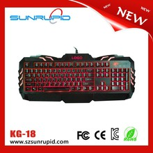 New design keyboard gaming led backlit RGB gaming keyboard USB port