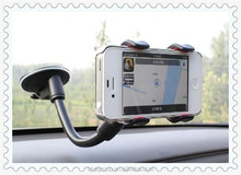 New Long-arm Universal Cell phone holder Soft Tube For iPhone 5S 4S GPS for Samsung Note 3 2 S4 Car Phone Holder