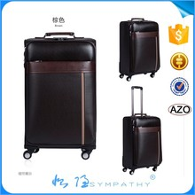 2015 Alibaba China Travel Luggage Leather Luggage Trolley Bags New Arrival Luggage