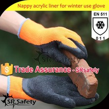 SRSAFETY 7G Acrylic Nappy Knitted High Impact Protective Winter Gloves Outwork