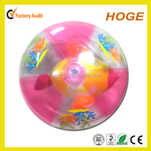 18 inch Transparent beach ball with 3 D Fish inside