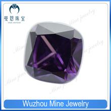 Top Quality Fertilizer square purple CZ cubic zirconia gemstone on sale