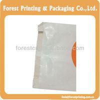 Printed paper bag eco-friendly brown and white kraft paper food bags