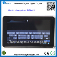 Cheap price 9 inch Allwinner A13 android tablet pc,second hand tablet pc, China mainland manufacturer